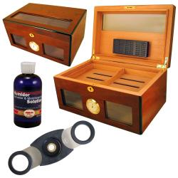 Cuban Crafters Bravo Dos Glass Humidor Set