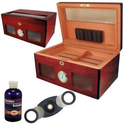 Cuban Crafters Bravo Glass Humidor Set