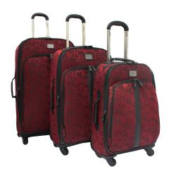 Kenneth Cole Reaction 'Taking Flight' Red 3-piece Expandable Spinner Luggage Set