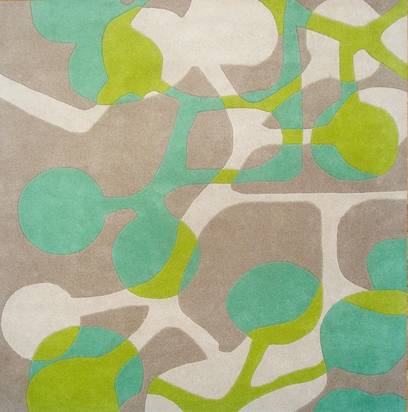 Alliyah Handmade Lime Green New Zealand Blend Wool Rug (6' x 6')