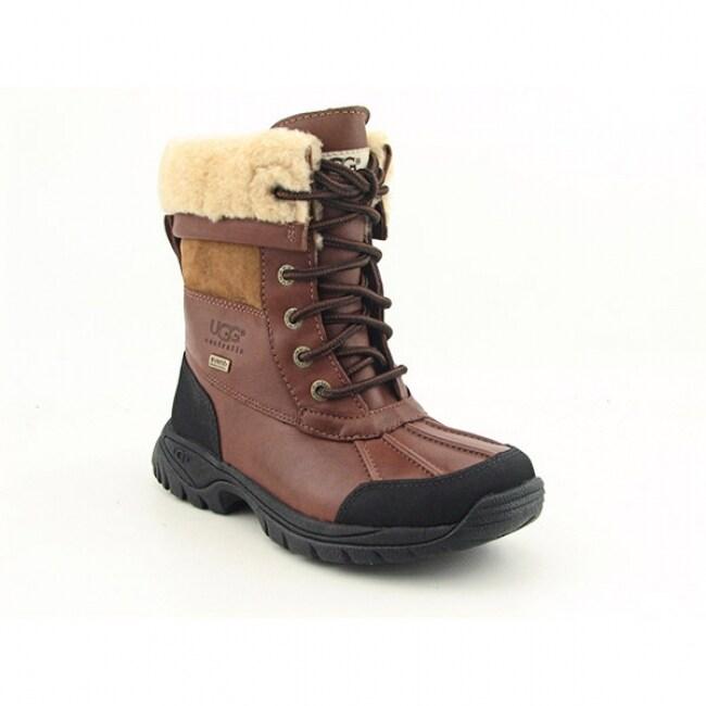 UGG Australia Boy's Brown 'Butte' Snow Boots