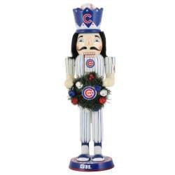 Chicago Cubs 14-inch Wreath Nutcracker