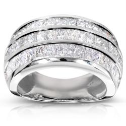14k White Gold 3 5/8ct TDW Diamond Band (F-G, VS1-VS2)