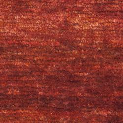 Hand-knotted Vegetable Dye Solo Rust Hemp Rug (2' x 3')