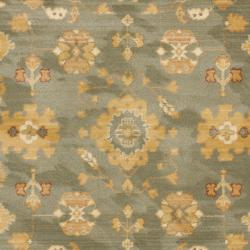 Oushak Blue/ Cream Powerloomed Rug (5'3 x 7'6)