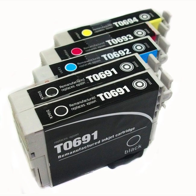 Epson T069 Black/Color (Remanufactured) (Pack of 5)