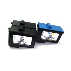 Dell Series 2  Black/ Tri-color Ink Cartridges (Remanufactured) (Pack of 3)