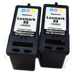 Lexmark 18C003 Tri-color Ink Cartridges (Remanufactured) (Pack of 2)