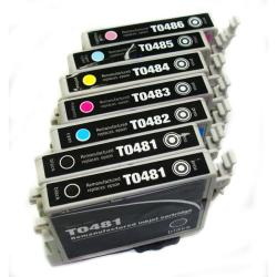 Epson T048 Black/ Color Ink Cartridge (Remanufactured) (Pack of 7)