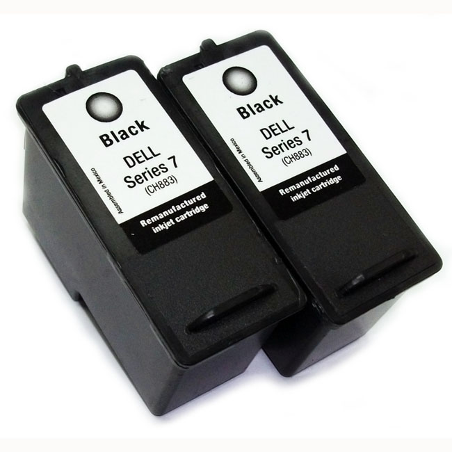 Dell Series 7 CH883 Black Ink Cartridge (Remanufactured) (Pack of 2)