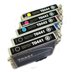 Epson T0441 (Remanufactured) (Pack of 5)