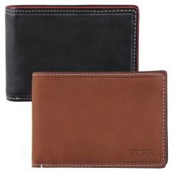Tumi Men's Slim Topstitch Leather Bi-fold Wallet