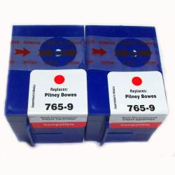 Pitney Bowes Compatible 765-9 Flourescent Red Ink Cartridges (Pack of 2)