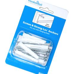 Organized Living freedomRail Screws and Strong-Loc Anchors (Pack of 6)