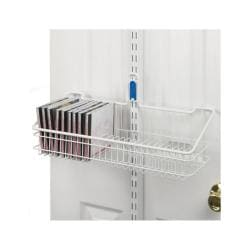 Organized Living freedomRail White Over-the-Door CD/DVD Holder