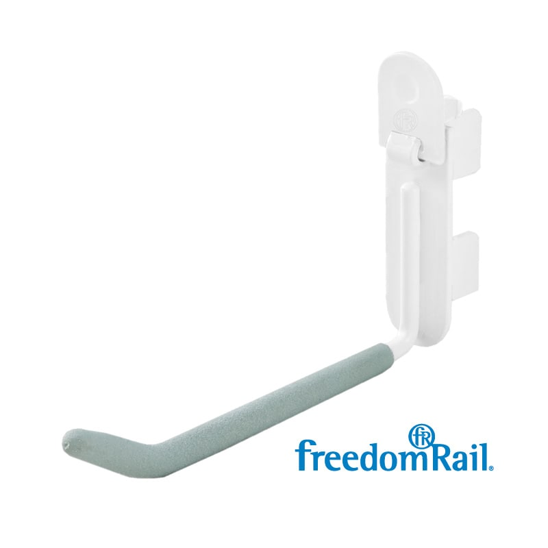 Organized Living freedomRail Utility White Hook (Pack of 4)