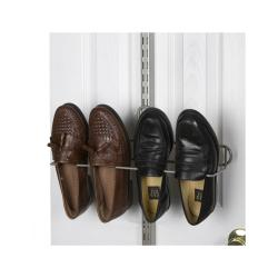Organized Living freedomRail Nickel Over-the-Door Shoe Rack