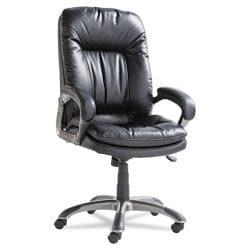 Black High-Back Swivel/ Tilt Leather Executive Chair