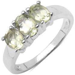 Malaika Sterling Silver Lemon Topaz Ring (1 1/8ct TGW)