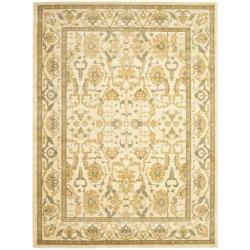 Safavieh Oushak Cream/ Cream Powerloomed Rug (6'7 x 9'1)