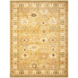 Safavieh Oushak Gold/ Gold Powerloomed Rug (6'7 x 9'1)