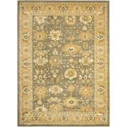 Oushak Grey/ Gold Powerloomed Rug (8' x 11')