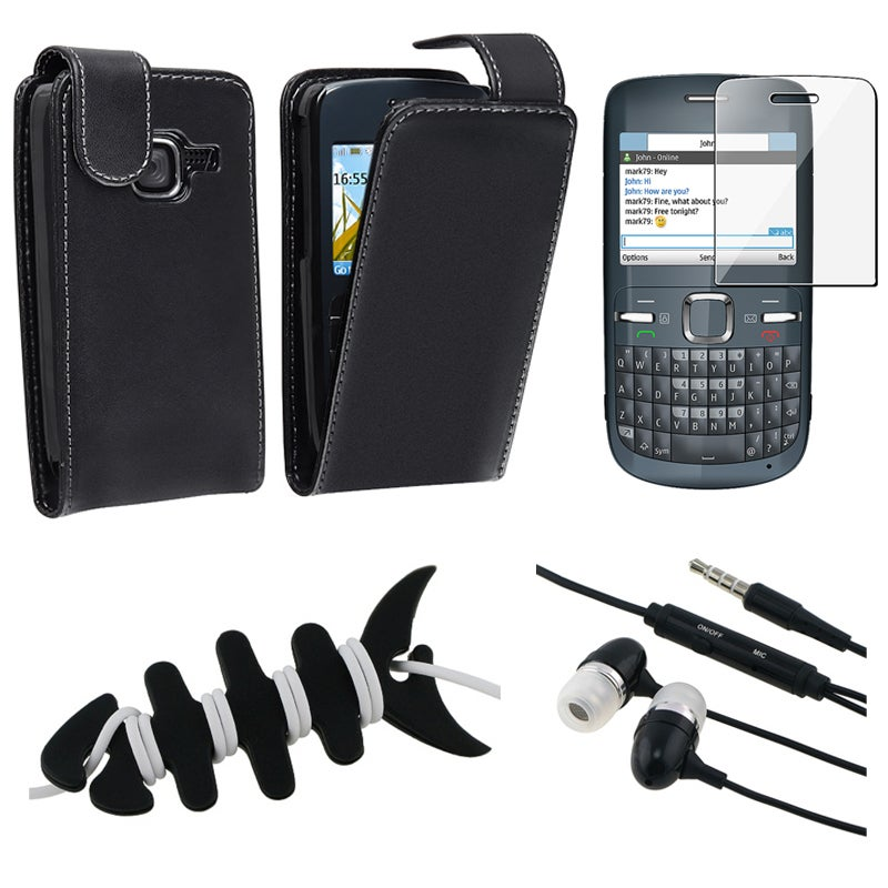 Leather Case/ Screen Protector/ Headset/ Wrap for Nokia C3