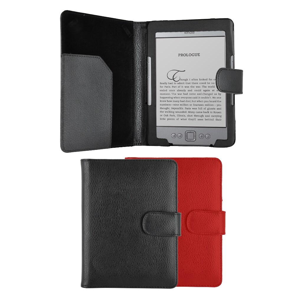 Premium Portfolio Leatherette Case for the Amazon Kindle 4th Generation