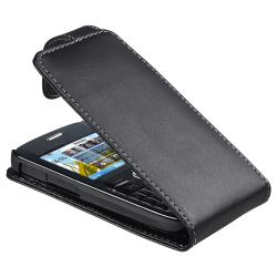 Black Leather Case for Nokia C3