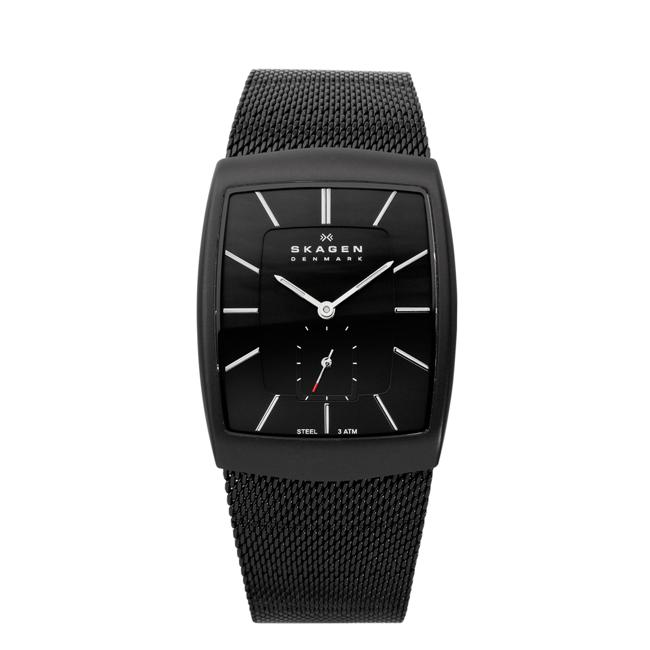 Skagen Men's Steel Matte Textured Mesh Accents Watch