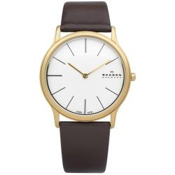 Skagen Men's Steel Super Slim Brown Watch