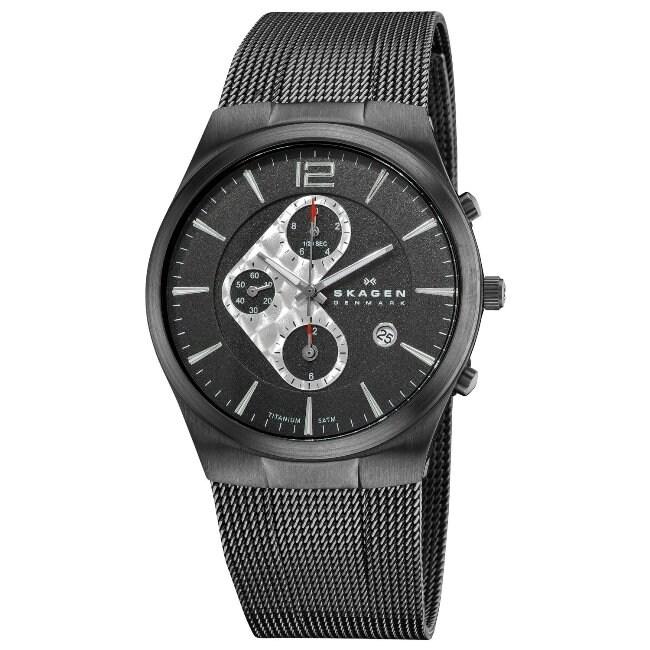 Skagen Men's Titanium Chronograph Watch