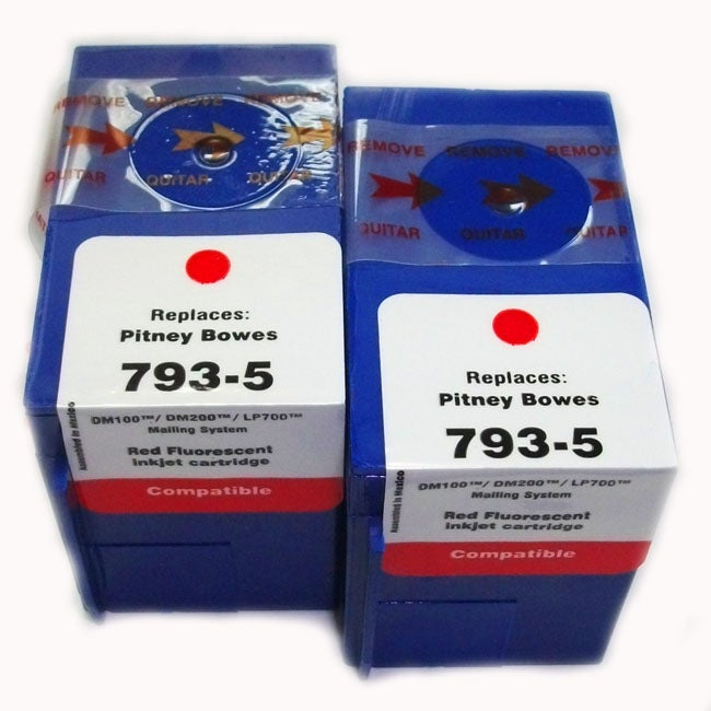 Pitney Bowes Compatible 793-5 Ink Cartridge (Pack of 2) (Refurbished)
