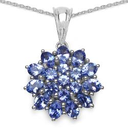 Malaika Sterling Silver Tanzanite Necklace