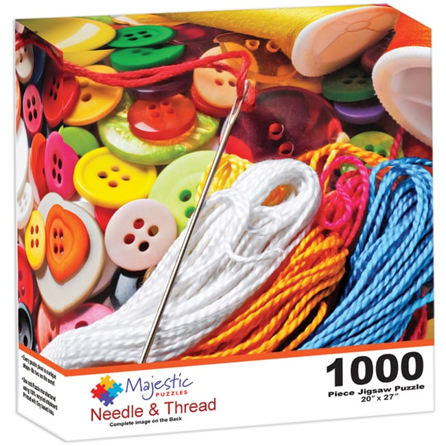 Majestic Needles and Thread 1000-piece Jigsaw Puzzle