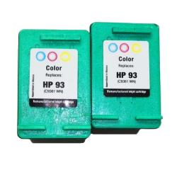 HP 93 Tri-color 2-Pack Ink Cartridge (Remanufactured)