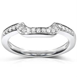 14k White Gold 1/10ct TDW Diamond Curved Wedding Band (H-I, I1-I2)
