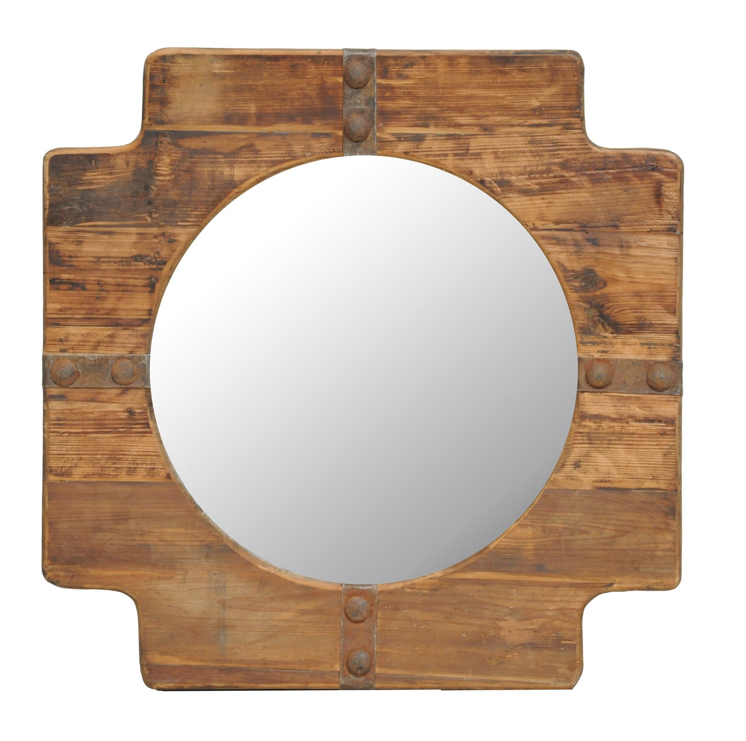 Matz Natural Wood-Framed Mirror