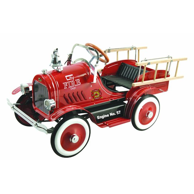 Deluxe Fire Truck Pedal Car