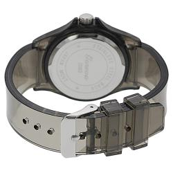 Geneva Platinum Women's Black Translucent Watch