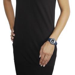 Geneva Platinum Women's Rhinestone-accented Silicone Watch