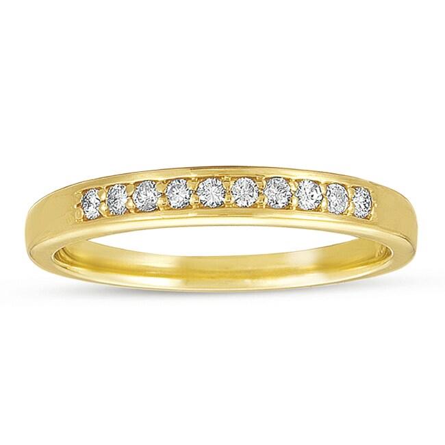 10k Yellow Gold 1/6 ct TDW Diamond Wedding Band (G-I, I1-I2)