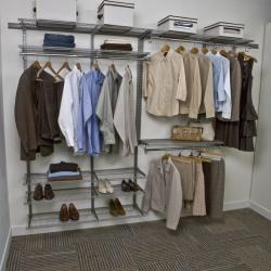 FreedomRail 7-Foot Nickel Ventilated Closet Kit