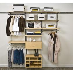 Organized Living freedomRail 6-foot Maple Wood Closet Kit
