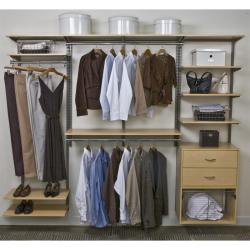 Organized Living freedomRail 8-Foot Maple Wood Closet Kit