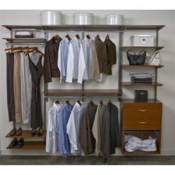 Organized Living freedomRail 8-foot Cherry Wood Closet Kit