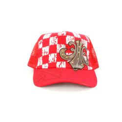 Faddism Unisex Red Square Design Baseball Cap