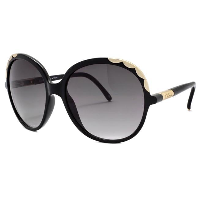 Chloe Women's 'Ernie' Black Fashion Sunglasses
