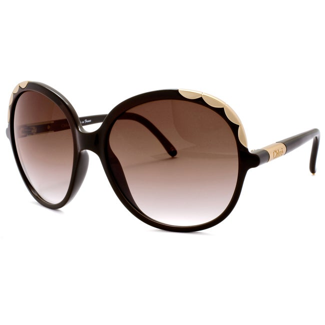 Chloe Women's 'Ernie' Brown Fashion Sunglasses