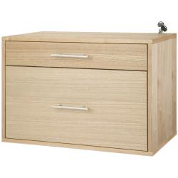 freedomRail O-Box Light Oak Hanging File Cabinet